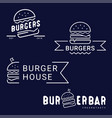 burger fast food logo or icon emblem vector image vector image