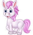 Cartoon baby pony horse posing isolated vector image vector image