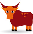 Cartoon of asian yak bull vector image vector image