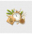 christmas festive ornament vector image vector image