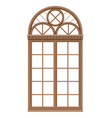 classic arched wooden window for a balcony