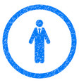 clerk rounded grainy icon vector image