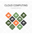 cloud computing infographic 10 option color design vector image vector image