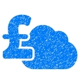 Cloud Pound Banking Grainy Texture Icon vector image vector image