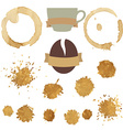Coffee Stains With Symbol Set vector image vector image
