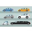 Collection of Passenger Cars Flat Style vector image vector image