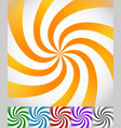 colorful background set with swirling rotating vector image