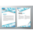 cover design template brochure flyer leaflet vector image