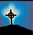 cross top of a hill vector image vector image