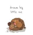 Cute cartoon card with mammoth vector image vector image