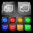Delivery truck icon sign Set of ten colorful vector image