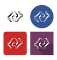 dotted icon unlinked chain in four variants vector image