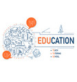 education icons collection design vector image vector image