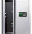 empty metal safe with digital lock vector image vector image