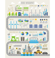 Energy and ecology Infographic set vector image vector image