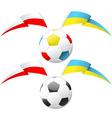 euro soccer ball vector image vector image