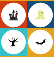 flat icon festival set fortress terrible vector image vector image