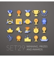 Flat icons set 29 vector image
