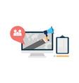 flat web internet marketing design vector image vector image