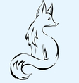 Fox animal vector image