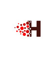 h letter pixel logo icon design vector image