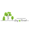 international day forest background vector image