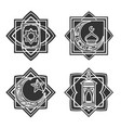 islamic ornate emblem set vector image vector image