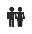 lovers icon vector image vector image