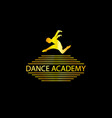 luxury golden dance academy logo vector image