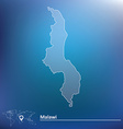 Map of Malawi vector image vector image