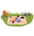 married couple picnic vector image vector image