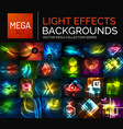 mega collection of glowing light effects abstract vector image