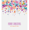 Merry Christmas colorful greeting card vector image vector image