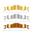 metallic ribbons for your design project vector image