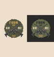 military colorful round label vector image vector image