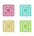 modern colorful flat camera app set for vector image