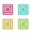 modern colorful flat camera app set vector image