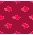 mooving hearts seamless pattern in modern vector image vector image