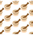 mortar and pestle for spices pattern vector image