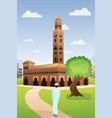 muslim man going to mosque vector image vector image