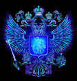 neon emblem of the russian federation vector image vector image