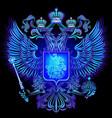 neon emblem russian federation vector image vector image