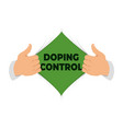 opening shirt doping control vector image vector image