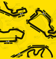 race track circuit vector image vector image