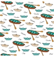 Seamless pattern of boats vector image vector image