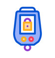secure alarm padlock icon outline vector image vector image