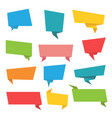 set paper banners origami banners ribbons vector image vector image
