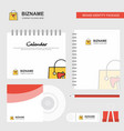shopping bag logo calendar template cd cover vector image vector image