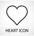 simple heart line art icon vector image