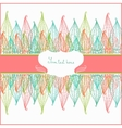 Spring card with abstract flowers vector image